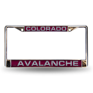 Colroado Avalanche Maroon Chrome License Plate Frame