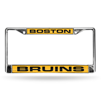 Boston Bruins Laser Chrome License Plate Frame