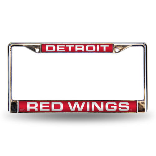 Detroit Red Wings Red Laser Chrome License Plate Frame