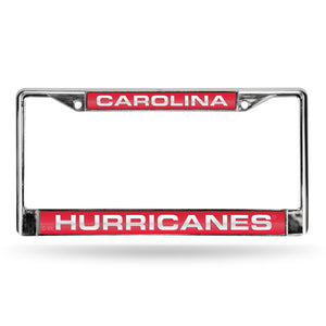 Carolina Hurricanes Red Laser Chrome License Plate Frame