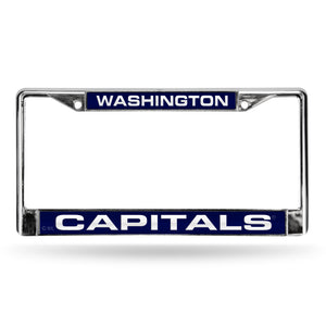 Washington Capitals Laser Chrome License Plate Frame