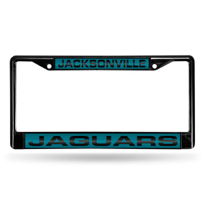 Jacksonville Jaguars Black Laser Chrome License Plate Frame