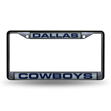 Dallas Cowboys Black Laser Chrome License Plate Frame