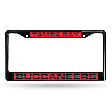 Tampa Bay Buccaneers Black Laser Chrome License Plate Frame
