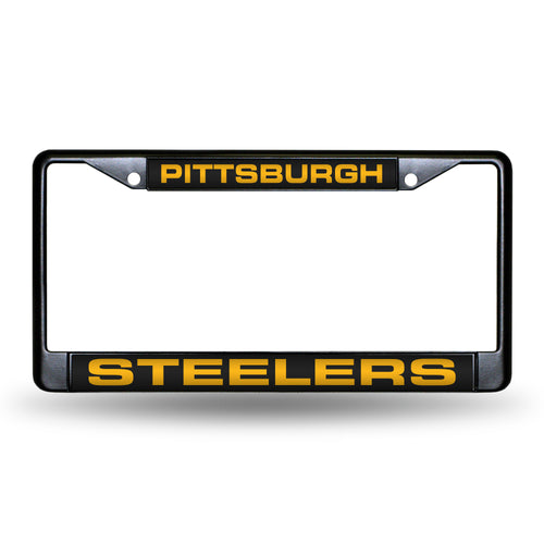 Pittsburgh Steelers Black Laser Chrome License Plate Frame #2