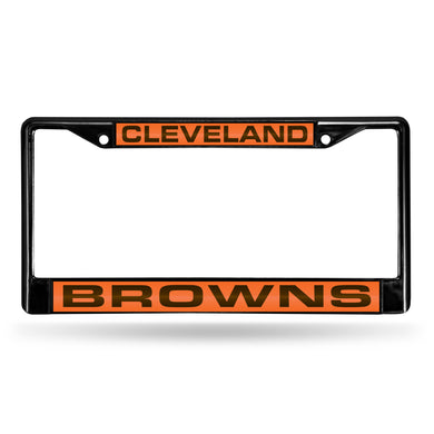 Cleveland Browns Black  Laser Chrome License Plate Frame