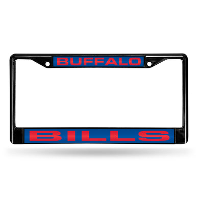 Buffalo Bills Black Laser Chrome License Plate Frame