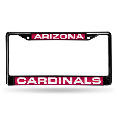 Arizona Cardinals Black Laser Chrome License Plate Frame