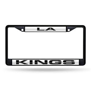 Los Angeles Kings Black Laser Chrome License Plate Frame