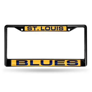 St. Louis Blues Laser Chrome License Plate Frame