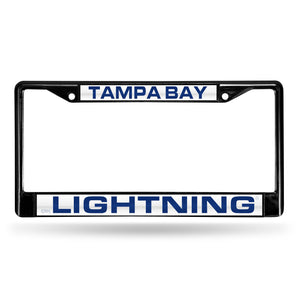 Tampa Bay Lightning Black Laser Chrome License Plate Frame