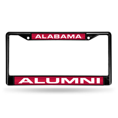 NCAA fan gear Alabama Crimson Tide alumni black license plate frame from Sports Fanz