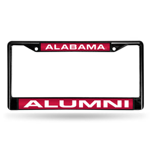 Alabama Crimson Tide Black Alumni Laser License Plate Frame
