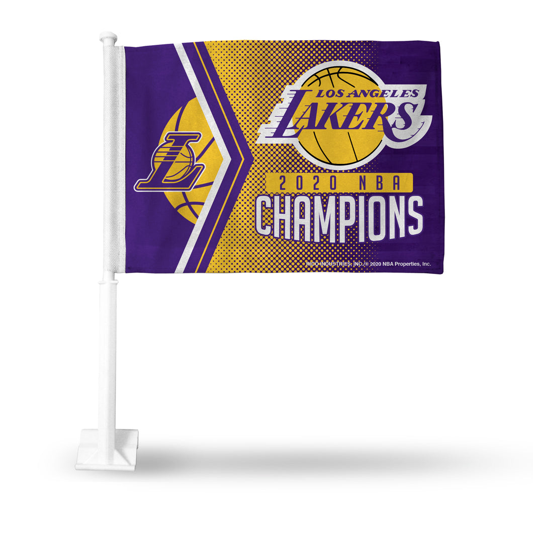 Los Angeles Lakers 2020 NBA Champs Car Flag