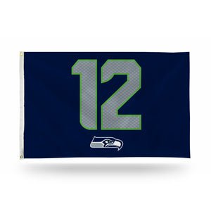 Seattle Seahawks 12 Man Jersey Banner Flag - 3'x5'