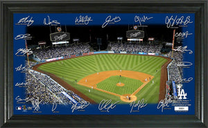 Los Angeles Dodgers 2020 Signature Field Limited Edition Frame