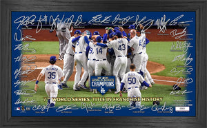 Los Angeles Dodgers 2020 World Series Champions Celebration Signature Field