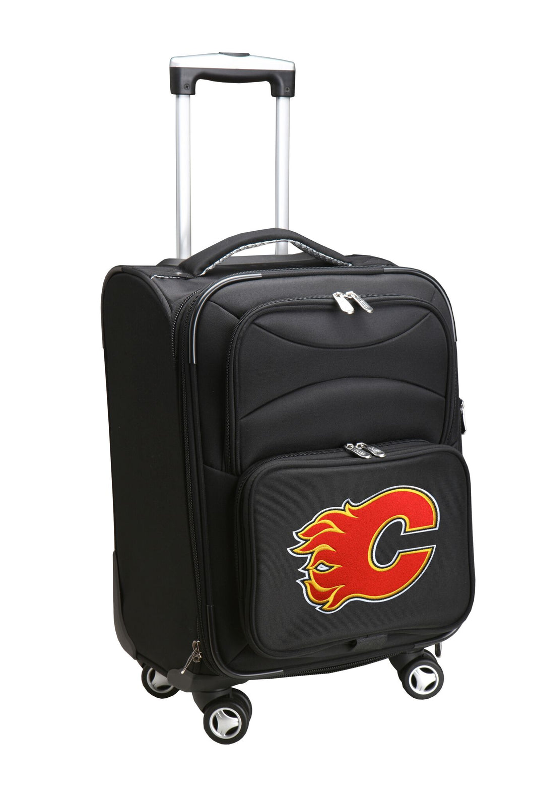 Calgary Flames Luggage Carry-On 21in Spinner Softside Nylon