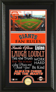 San Francisco Giants Fan Rules Supreme Bronze Coin Photo Mint