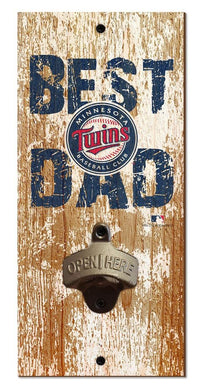Minnesota Twins Best Dad Bottle Opener