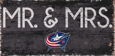 Columbus Blue Jackets Mr. & Mrs. Wood Sign - 6