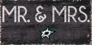 "Dallas Stars Mr. & Mrs. Wood Sign - 6""x12"""