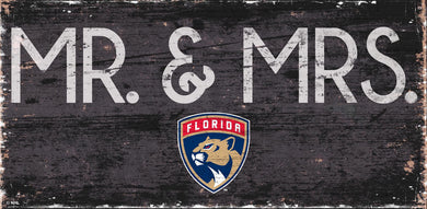 Florida Panthers Mr. & Mrs. Wood Sign - 6