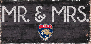 "Florida Panthers Mr. & Mrs. Wood Sign - 6""x12"""