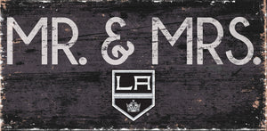 "Los Angeles Kings Mr. & Mrs. Wood Sign - 6""x12"""