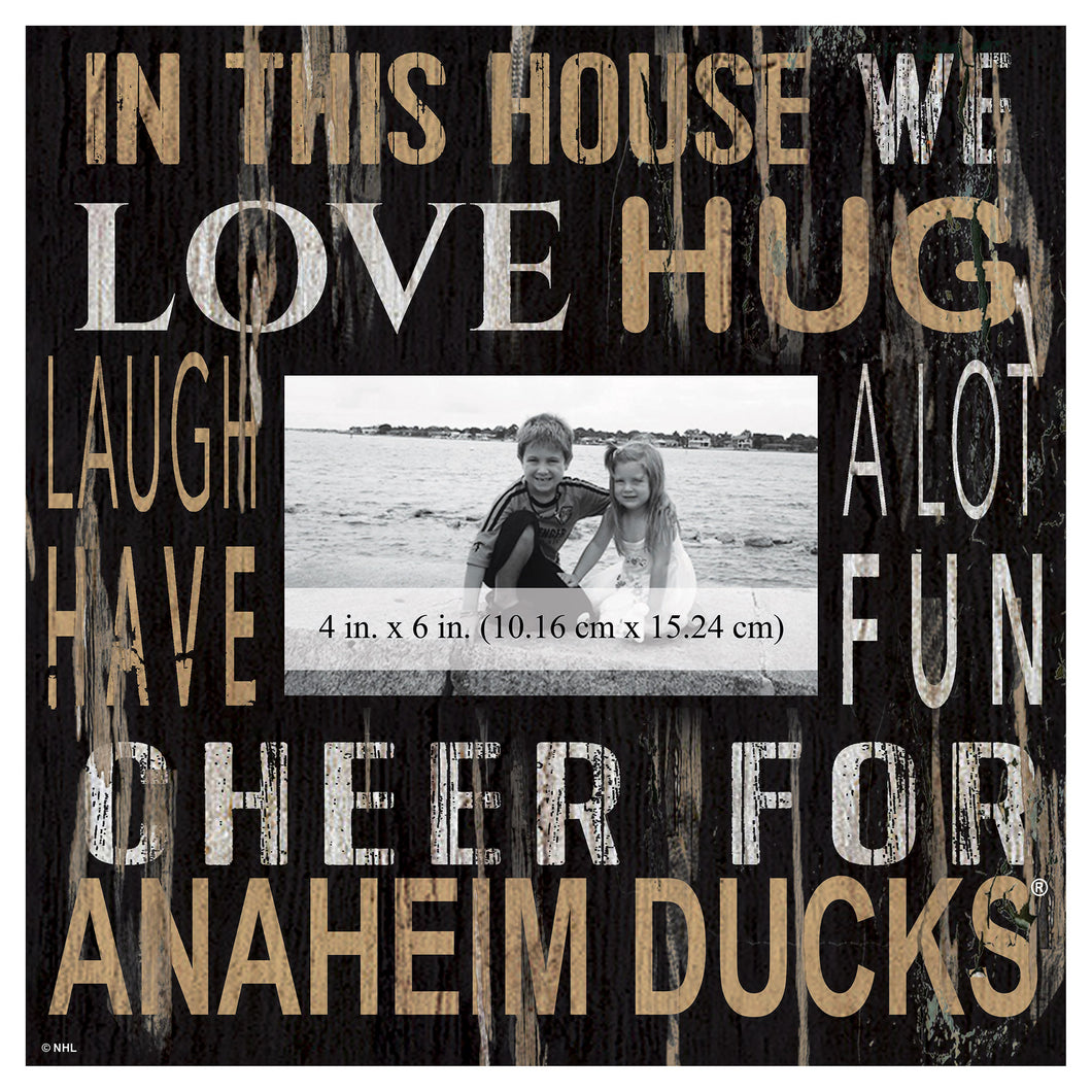 Anaheim Ducks In This House Picture Frame