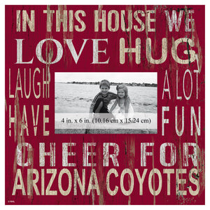 Arizona Coyotes In This House Picture Frame
