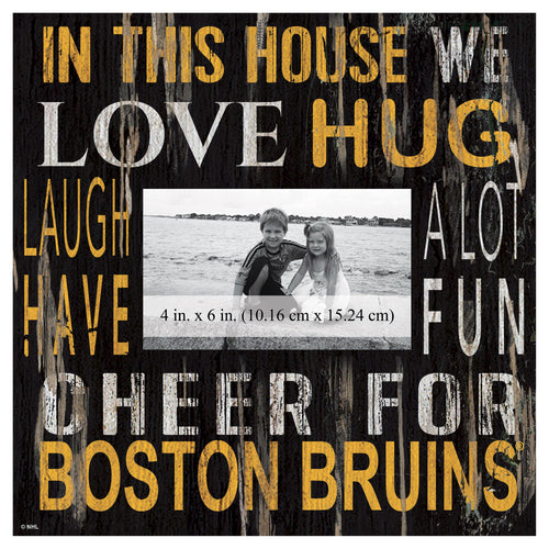 Boston Bruins In This House Picture Frame