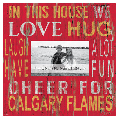 Calgary Flames In This House Picture Frame