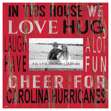 Carolina Hurricanes In This House Picture Frame