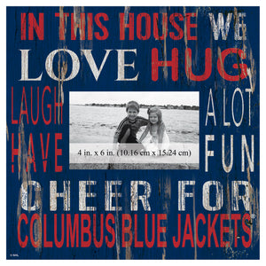 Columbus Blue Jackets In This House Picture Frame