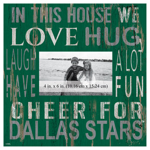 Dallas Stars In This House Picture Frame