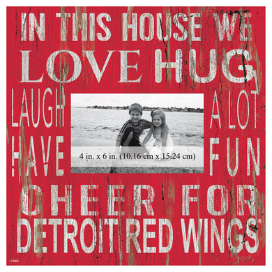 Detroit Red Wings In This House Picture Frame