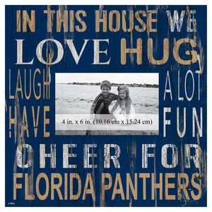 Florida Panthers In This House Picture Frame