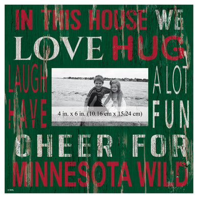 Minnesota Wild In This House Picture Frame