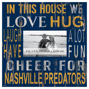 Nashville Predators In This House Picture Frame