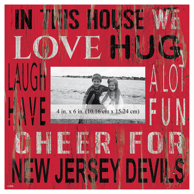 New Jersey Devils In This House Picture Frame