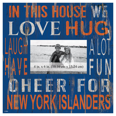 New York Islanders In This House Picture Frame