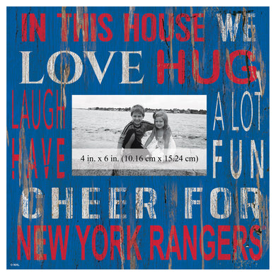 New York Rangers In This House Picture Frame