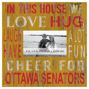 Ottawa Senators In This House Picture Frame
