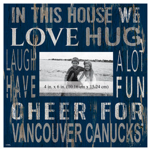 Vancouver Canucks In This House Picture Frame
