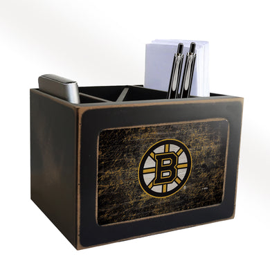 Boston Bruins Distressed Desktop Organizer