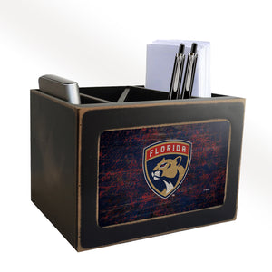 Florida Panthers Distressed Desktop Organizer