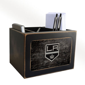Los Angeles Kings Distressed Desktop Organizer