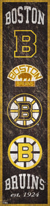"Boston Bruins Heritage Banner Wood Sign - 6""x24"""