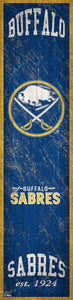"Buffalo Sabres Heritage Banner Wood Sign - 6""x24"""